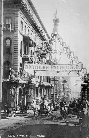 1893 celebration on completion of Great Northern Railroad Lowertown.jpg