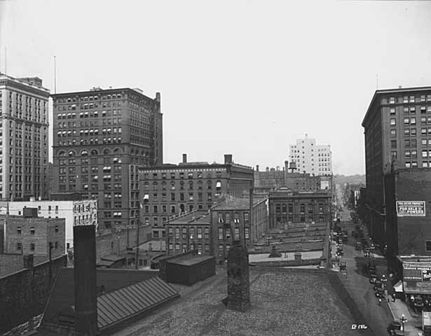 1925 Looking North up Jackson from roof top Lowertown Saint Paul.jpg