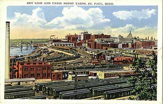 1926 Skyline and Union Depot Yards Lowertown Saint Paul.jpg