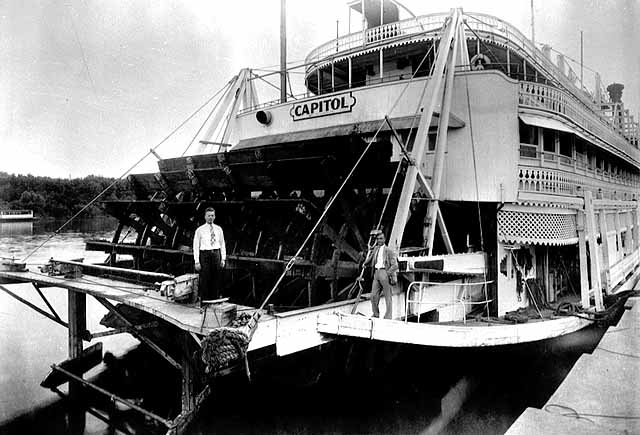 1937 Steamboat Capitol at the Jackson Street dock Lowertown.jpg