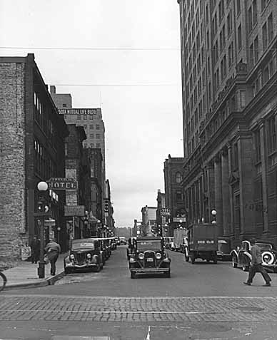 1941 Jackson Street, looking north from Fourth Street East after repaving Lowertown.jpg
