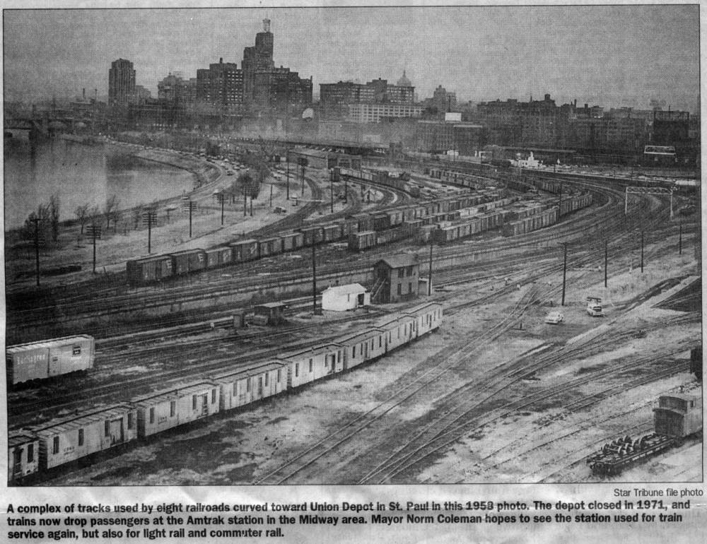1956 East View of Lowertown Saint Paul Lowertown.jpg