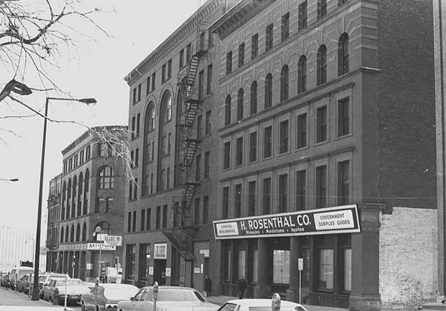 1974 Old Gotzian Shoe Company Buildings facing Smith Park on Fifth Street Lowertown.jpg