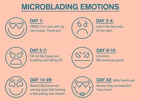 Just a friendly reminder to TRUST the process! #microblading #healing #totallynormal