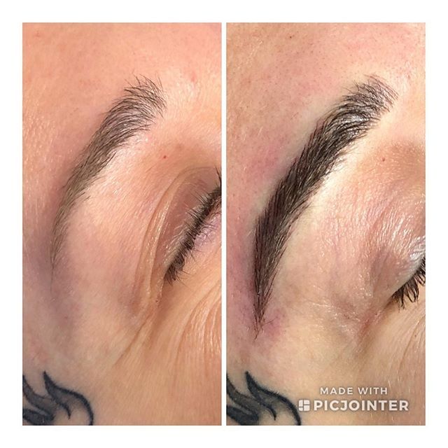 Another amazing before and after, thank you for your trust.  #microblading #pmatattoo #microbladed #tattoo #tattooedmakeup #pma #carefreebrows #sweatproofbrows #wakeupandgo #perfectbrows #alwaysready #mchenrycounty #supportsmallbusiness #supportlocal #shopsmall #permanentmakeup
