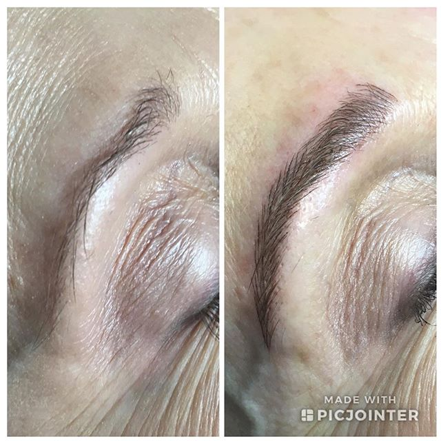I had the most amazing time sculpting these brows for Gail. Thank you for your trust. #microblading #microbladedeyebrows #microbladedbrows #wakeupready #sweatproofmakeup #waterproofbrows #sweatproof #perfectbrows #onthego #pma #pmabrows #tattooed #tattooedbrows #tattooedmakeup #supportlocal #smallbusiness #mchenrycounty