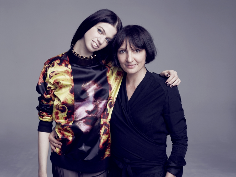 Lily McMenamy i                 Agnieszka Ścibior/fot. Marcin Tyszka/mat. Viva! Moda