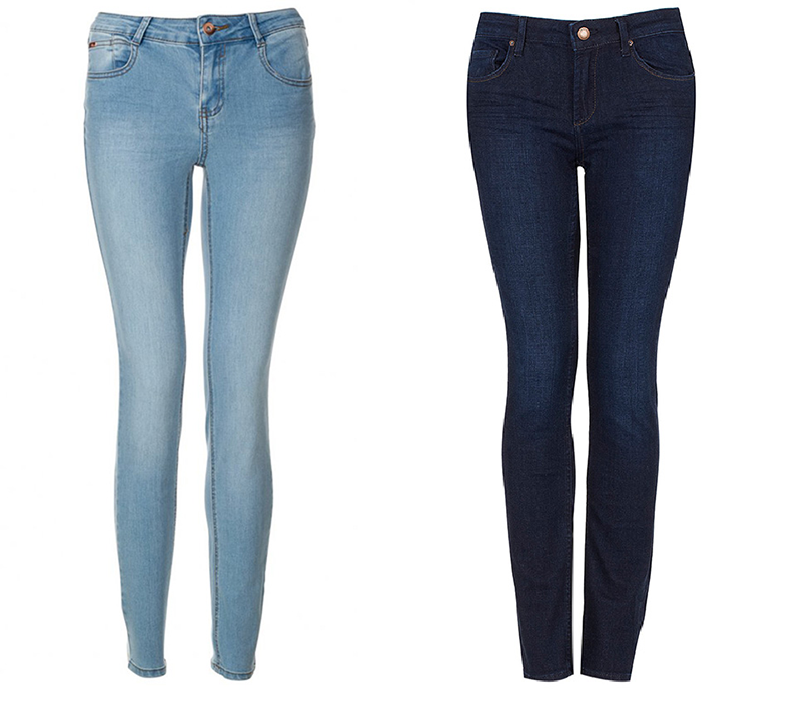 Skinny jeans/mat. promocyjne Blue Inc i Topshop