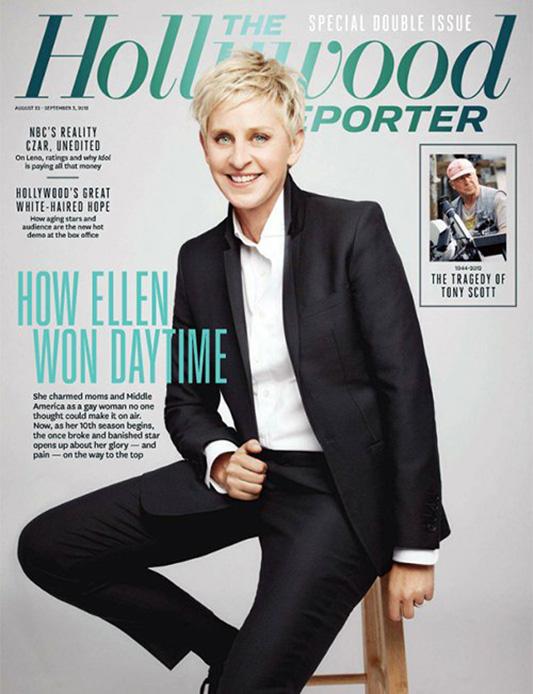Ellen De Generes na okładce The Hollywood reporter