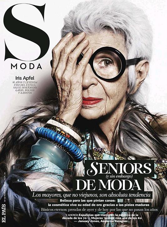 Iris Apfel na okładce S Moda  /mat. prasowe  S Moda