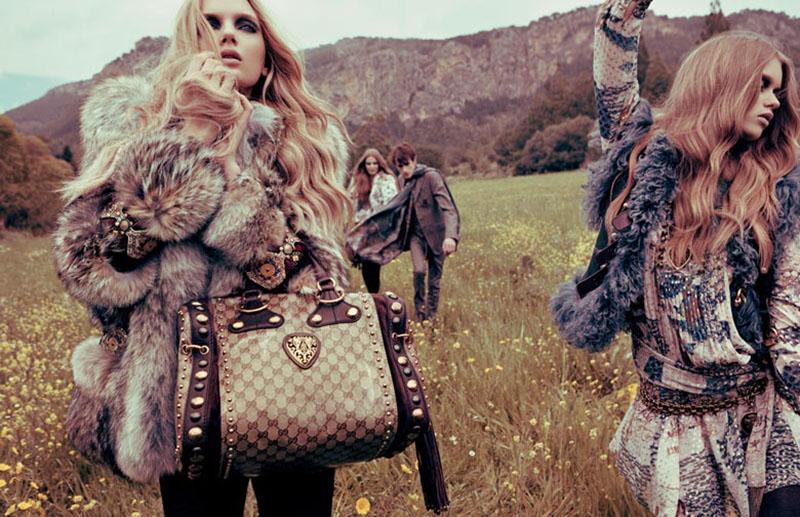 Kampania Gucci na sezon jesień/zima 2009 inspirowana stylem boho chic