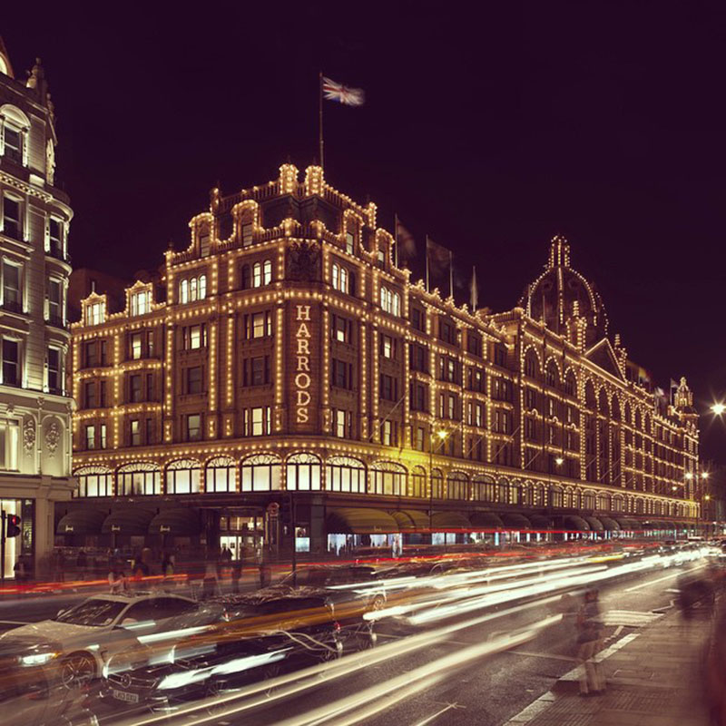 Harrods nocą/Instagram:@Harrods