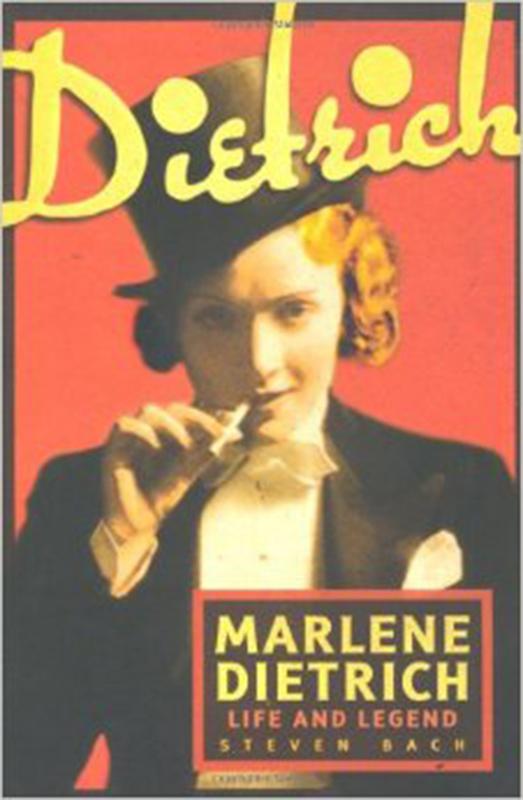 """Marlene Dietrich na okładce książki """"Marlene Dietrich:Life and Legend"""""""