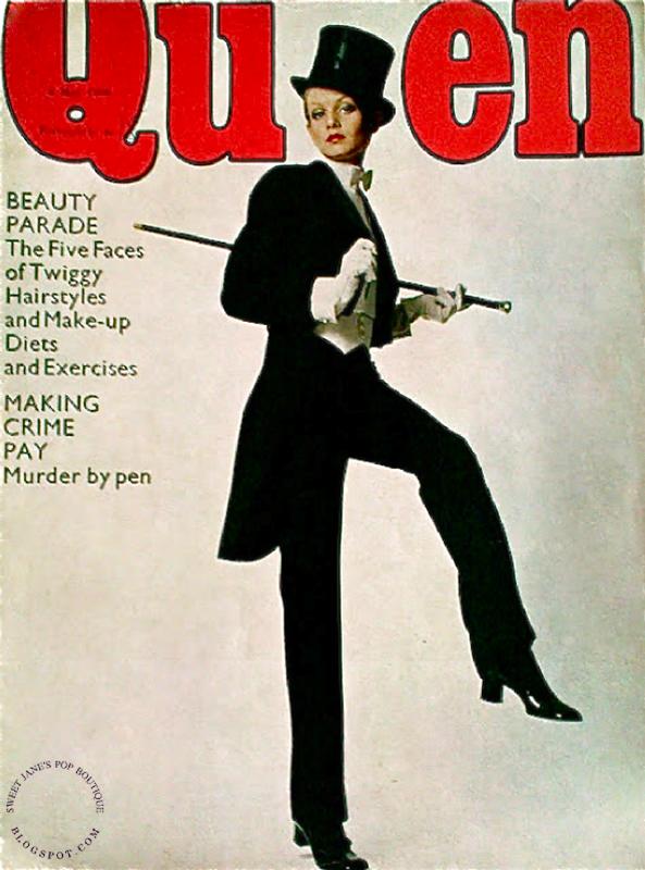 Twiggy na okładce magazynu Queen z 1968 roku