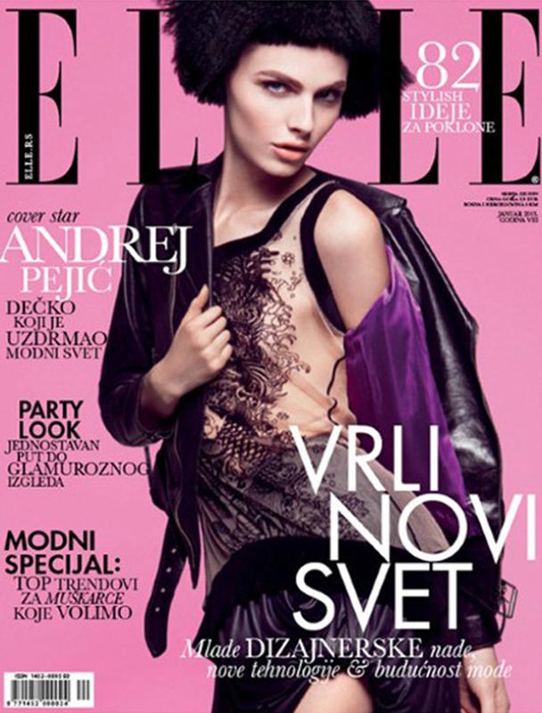 Andrej Pejic na okładce Elle Serbia