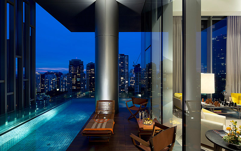 """Wnętrze hotelu """"The Marq"""" w Singapurze"""