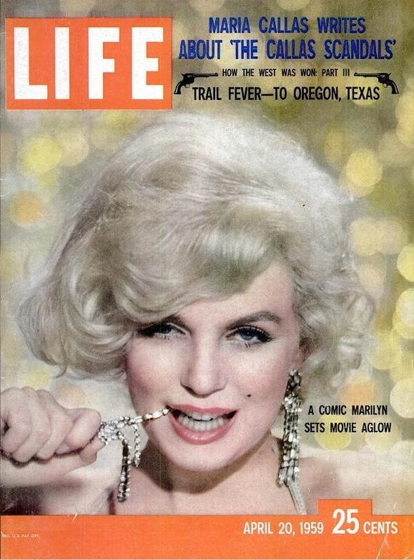 Marilyn Monroe na okładce Life, kwiecień 1959r./fot. Richard Avedon