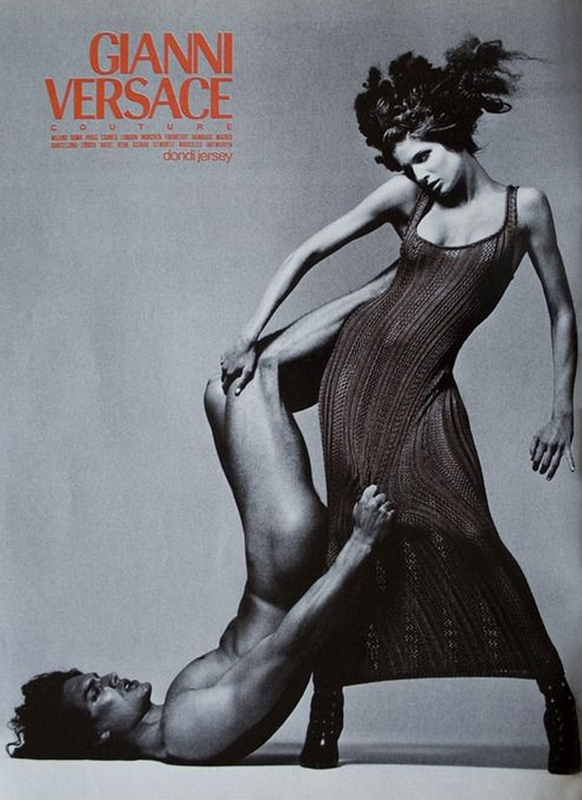 Stephanie Seymour i Marcus Schenkenberg w kampanii Versace jesień 1993/fot. Richard Avedon