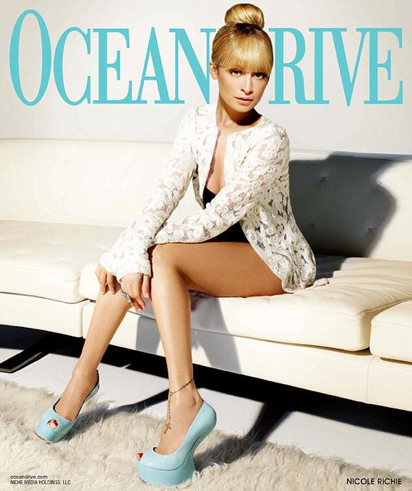 Nicole Richie na okładce Ocean Drive