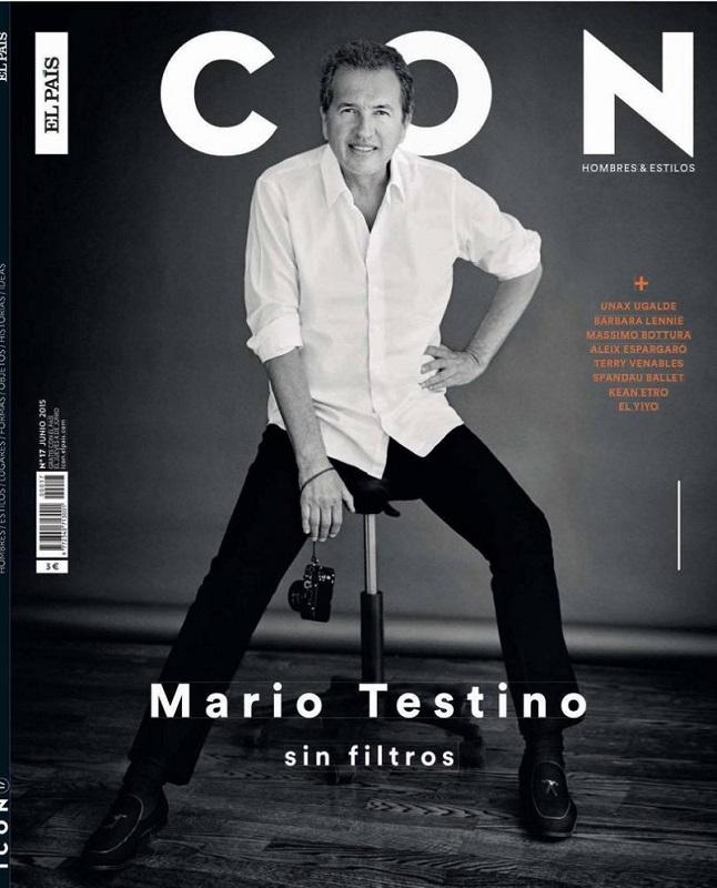 Mario Testino na okładce El Pais Icon Magazine czerwiec 2015