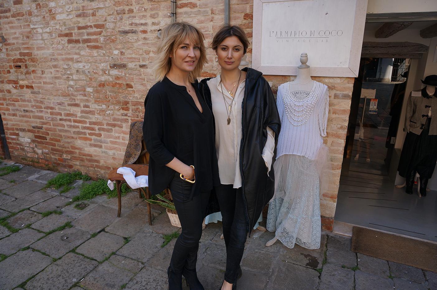 Anna Puślecka i Federica Bertolino właścicielka butiku vintage L'Armadio di Coco