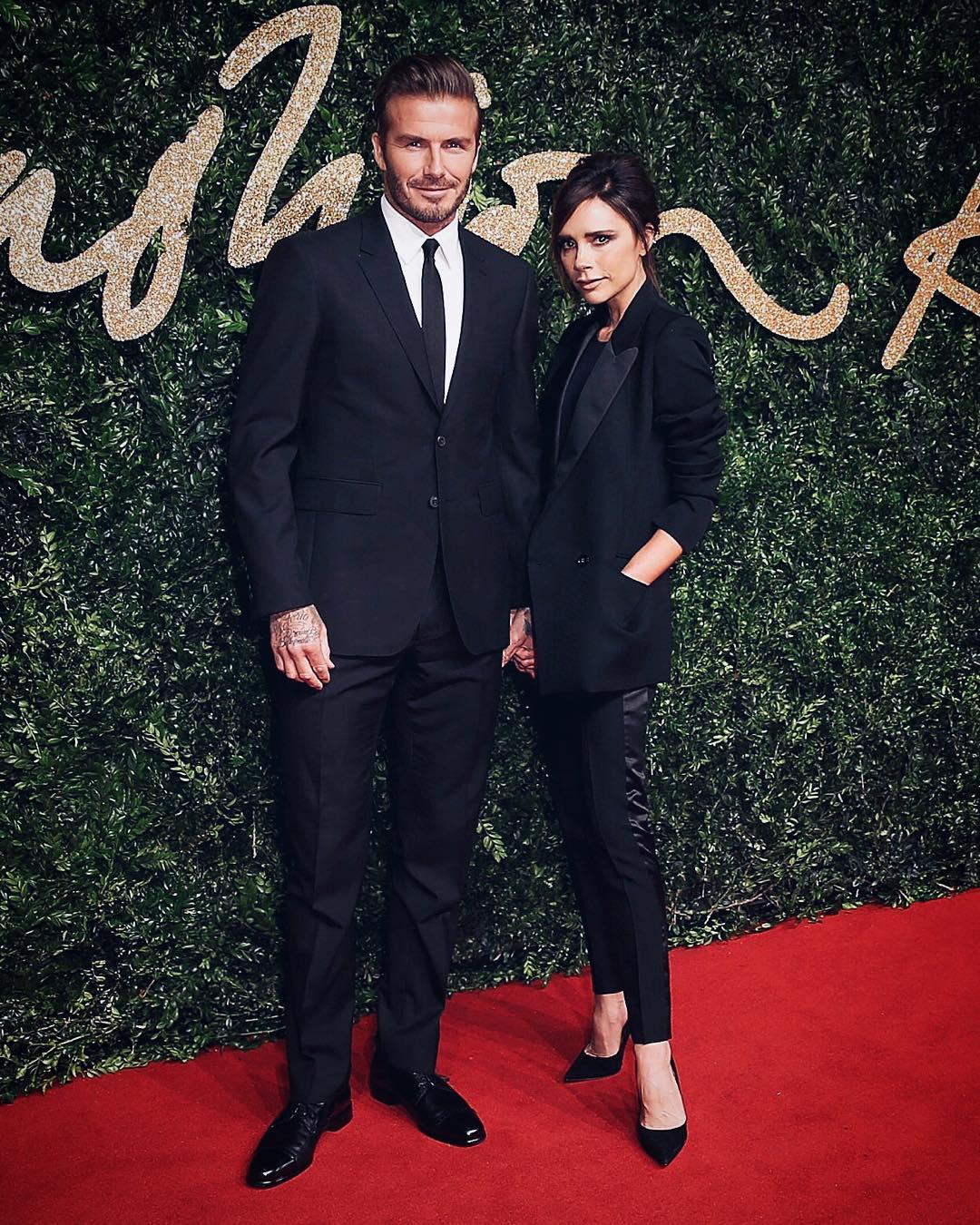 David Beckham i Victoria Beckham/Instagram: @burberry