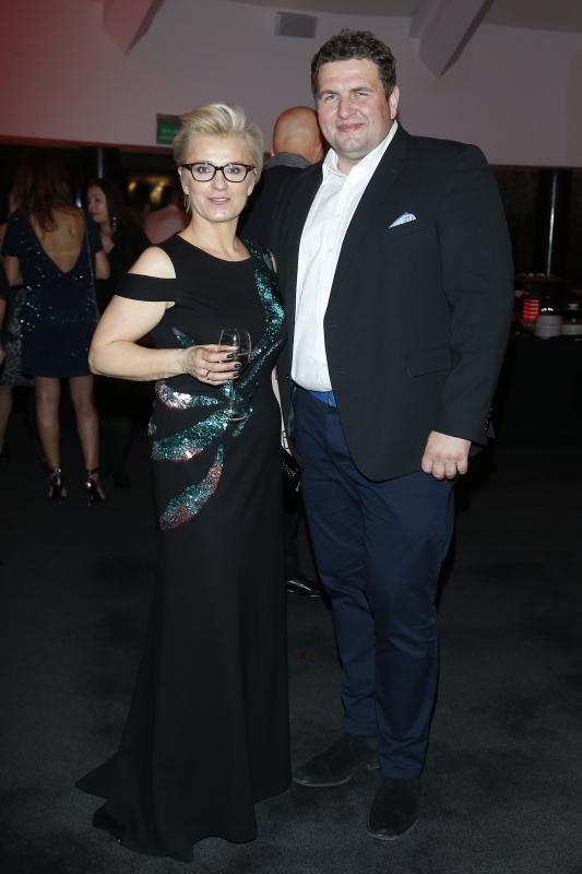 Lidia Tofil, Burda Media, producentka gali i Dariusz Rżysko/fot. AKPA