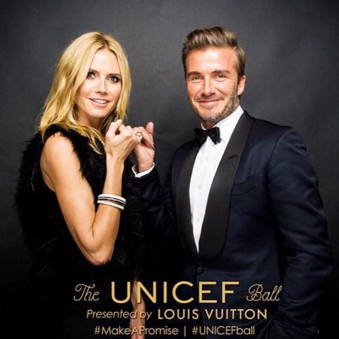 Heidi Klum i David Beckham/Instagram: @louisvuitton