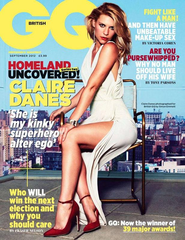 Claire Danes w szpilkach Blahnika na okładce GQ UK