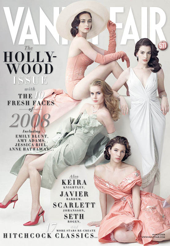 Amy Adams w szpilkach Blahnika na okładce Vanity Fair