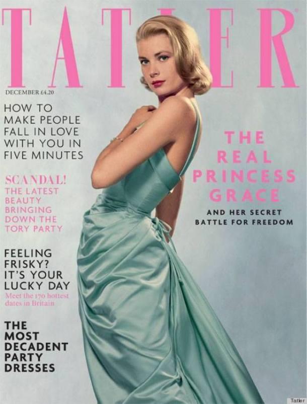 Grace Kelly na okładce Tatler Magazine w projekcie Head