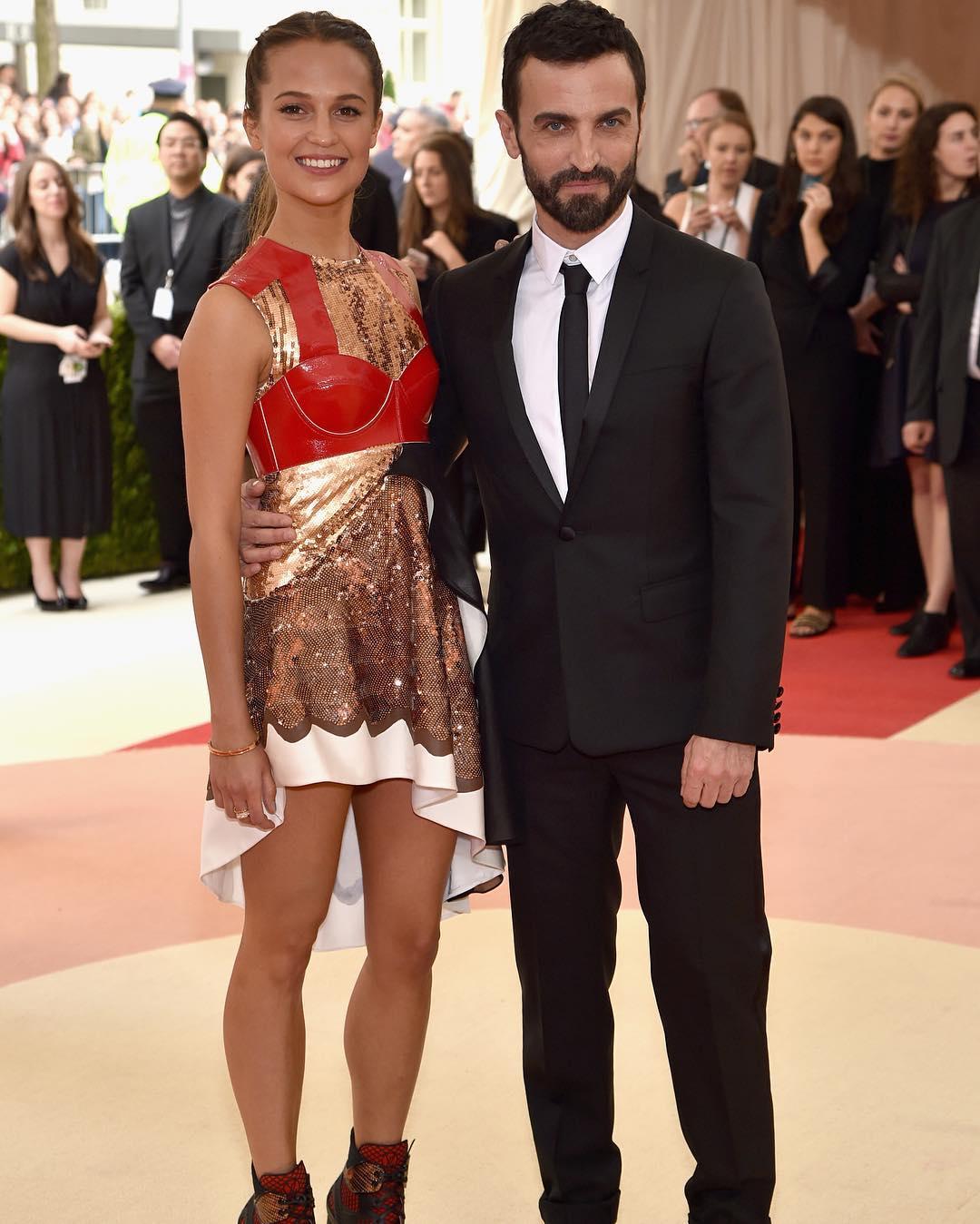 Alicia Vikander i Nicolas Ghesquiere/Instagram: @buro247ru