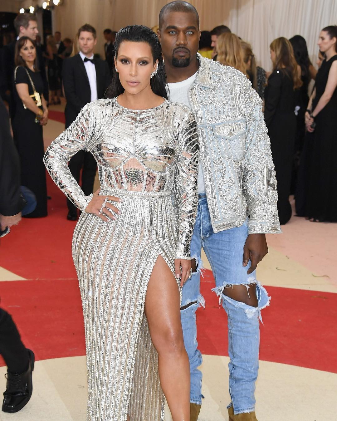 Kim Kardashian i Kanye West/Instagram: @buro247ru