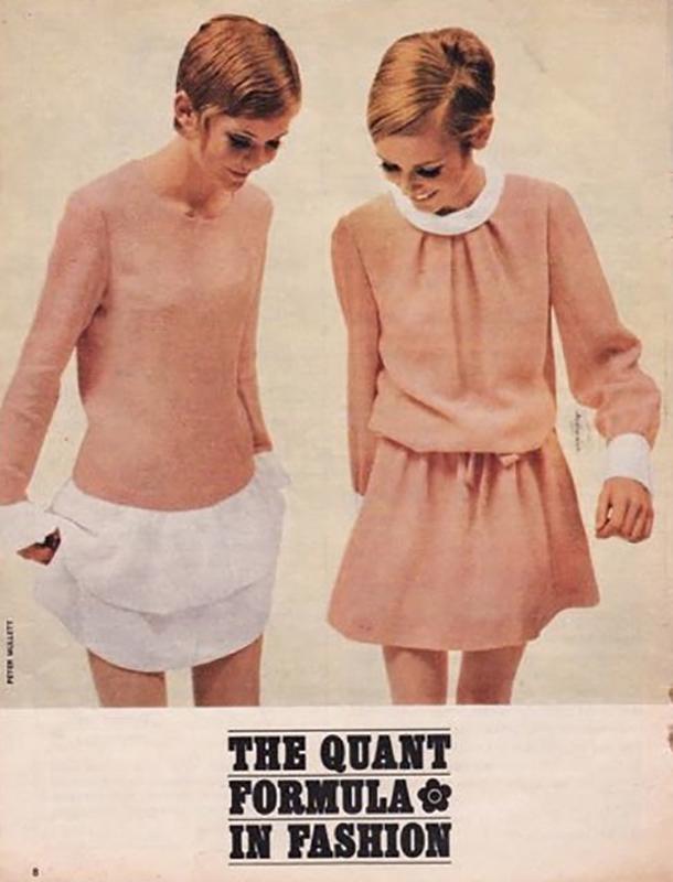 Twiggy w reklamie kolekcji Mary Quant