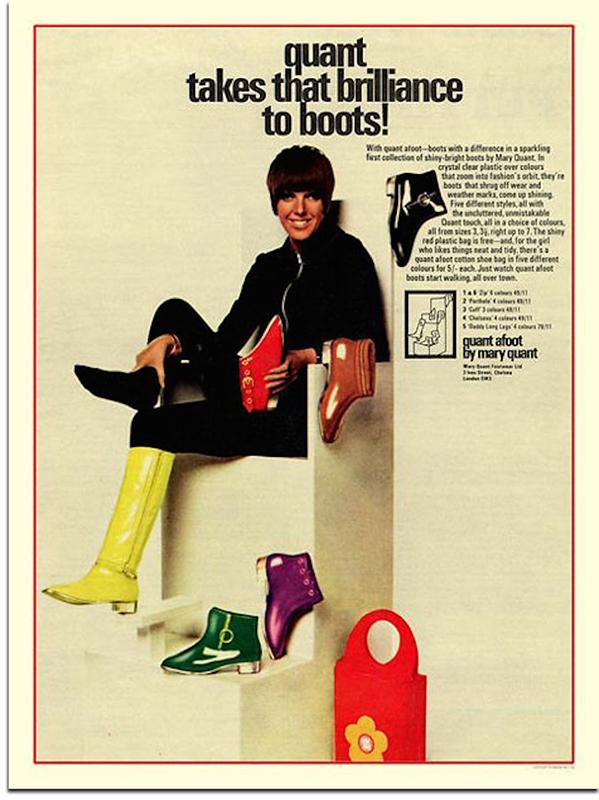 Reklama butów projektu Mary Quant