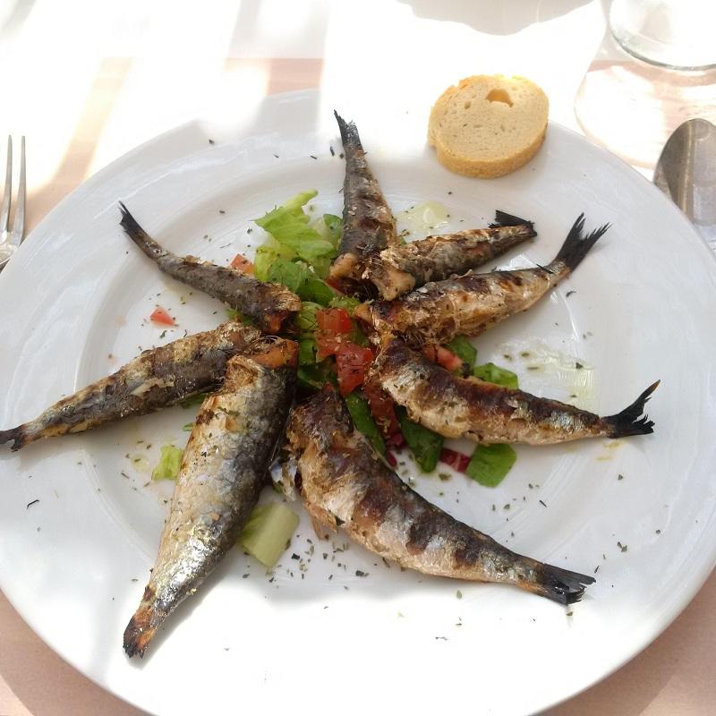Sarynki z grilla w restauracji Lisat na Lia Beach/ifot. Anna Puślecka