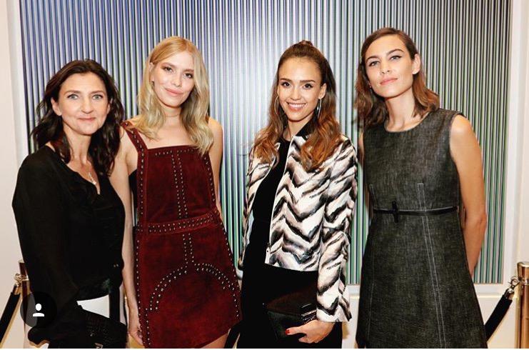 Instagram: @sophiedelafontaine od lewej: Sophie Delafontaine, Lena Perminova, Jessica Alba, Alexa Chung