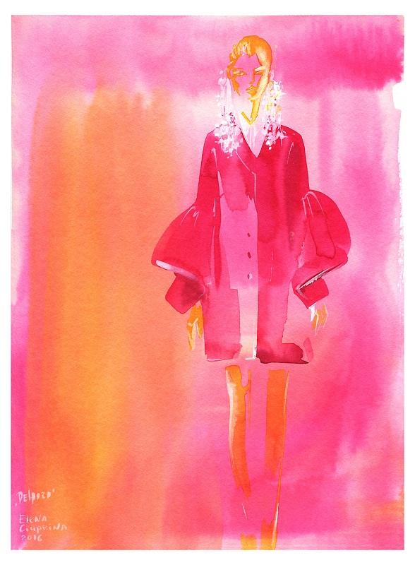 Delpozo 'Pink dream'/Ilustracja: Elena Ciuprina