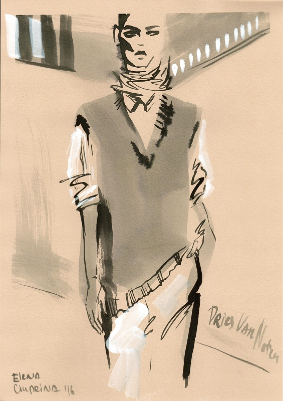Dries van Noten/Ilustracja: Elena Ciuprina
