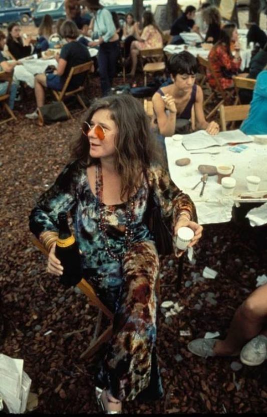 Janis Jopin w Woodstock /rok 1969
