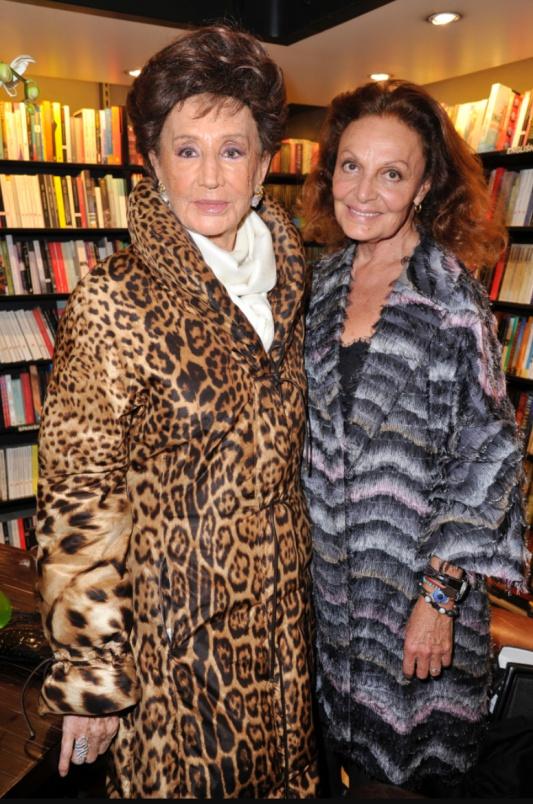 Jacqueline de Ribes i Diane von Furstenbeg /fot. www.wwd.com