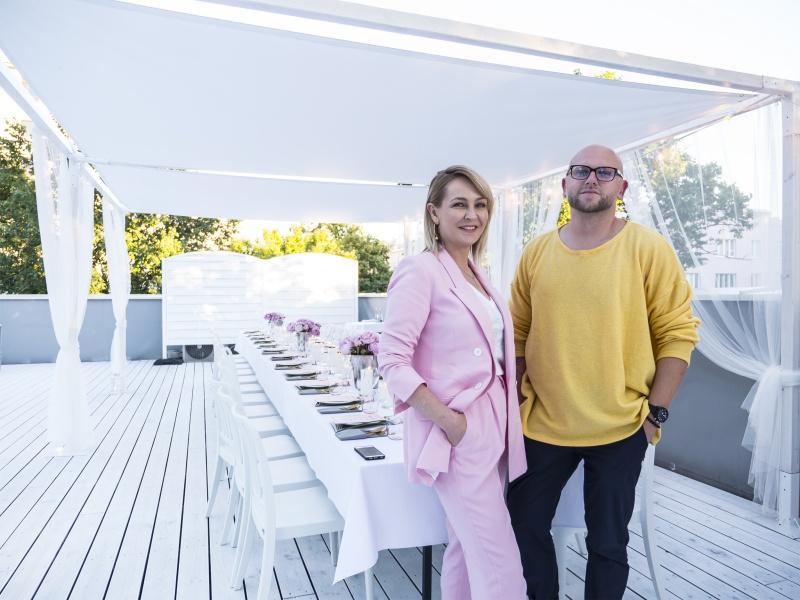 Co-Producer KTW Fashion Week - Anna Puślecka oraz pomysłodawaca Rafał Wyszyński /fot. materiały prasowe KTW Fashion Week