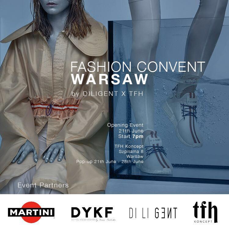 Oficjalny plakat eventu Fashion Convent WARSAW by Diligent x TFH/fot. materiały prasowe