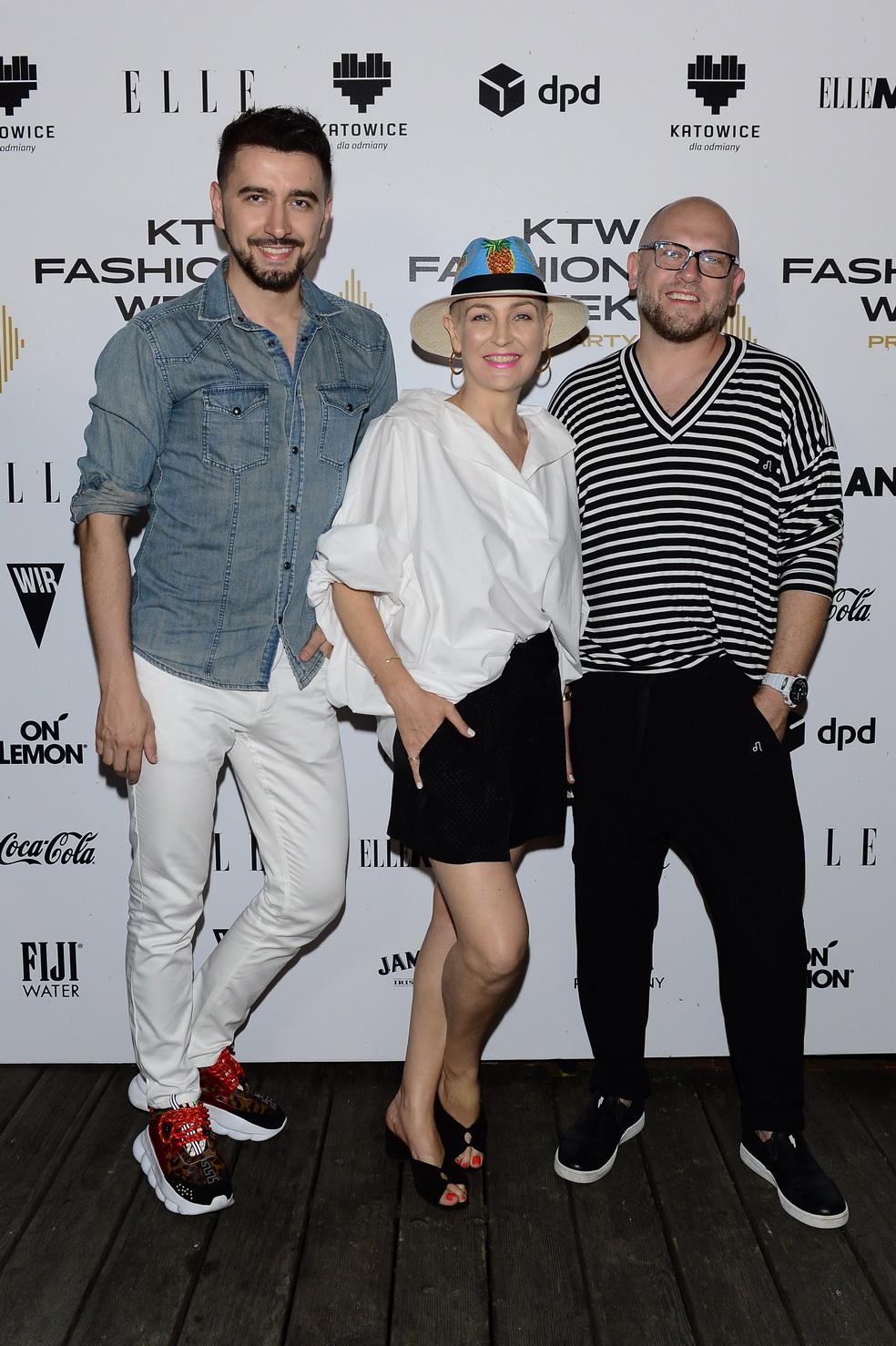 od lewej: Arek Vaz (Dyrektor Artystyczny KTW FW), Anna Puślecka (Dyrektor Kreatywna i odpowiedzialna za kontakt z mediami), Rafał Wyszyński (Pomysłodawca KTW FW) /fot. Radek Nawrocki