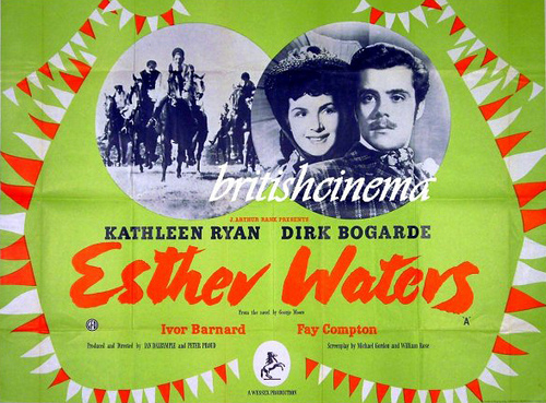 Dirk Bogarde and Kathleen Ryan in Esther Waters, filmed at Folkington Manor