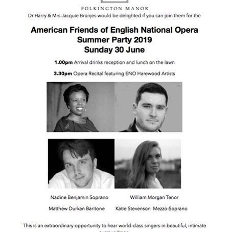 Last few tickets available for @englishnationalopera Summer Party. Don't delay book today @folkingtonmanor  #summerparty #opera #countryhouse #sussex #sussexlife