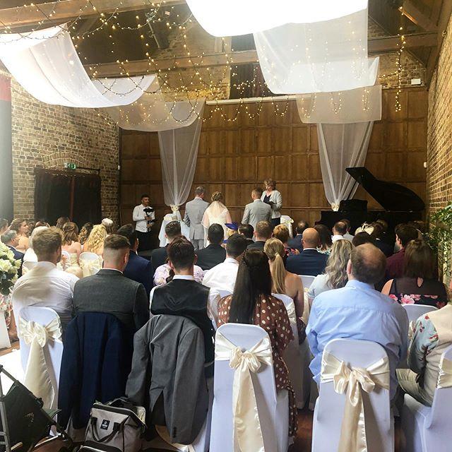 The flint hall is licensed for wedding ceremonies and can seat up to 140 guests.  #folkingtonmanor #weddingvenue #sussex #weddingceremony #exclusivewedding #weddings #instaweddding