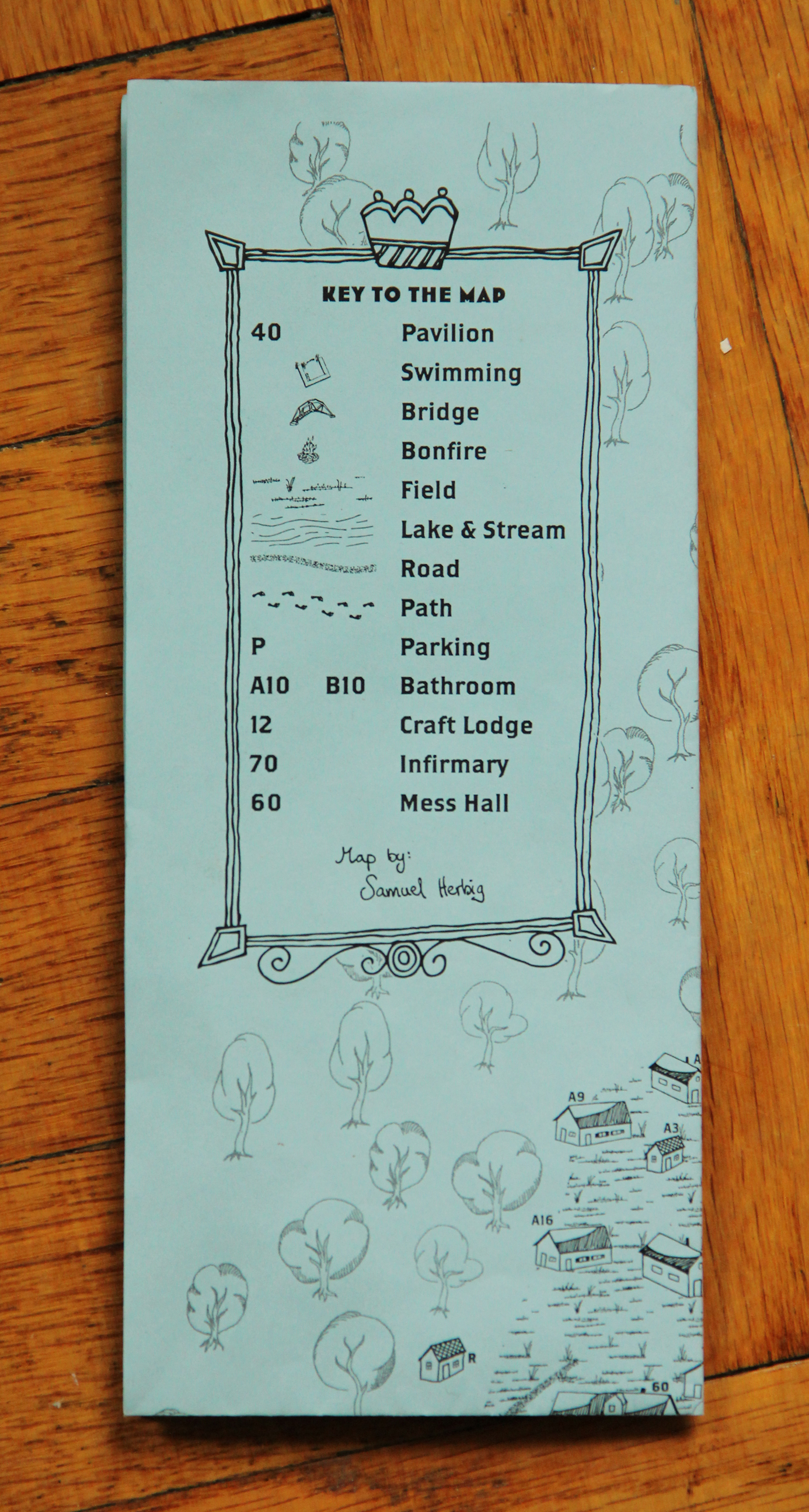 Map Key on the printed Map