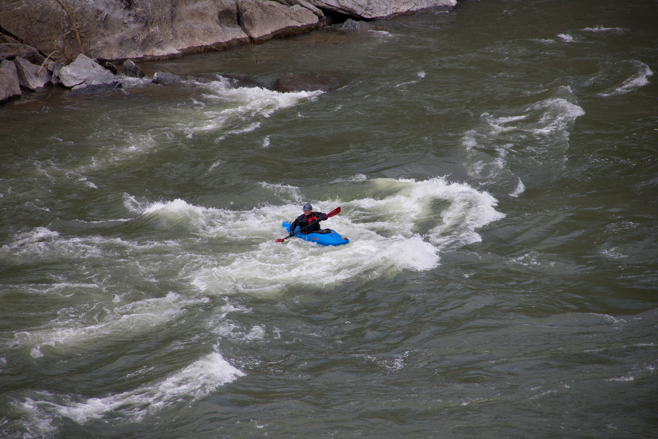 A wild kayaker appeared
