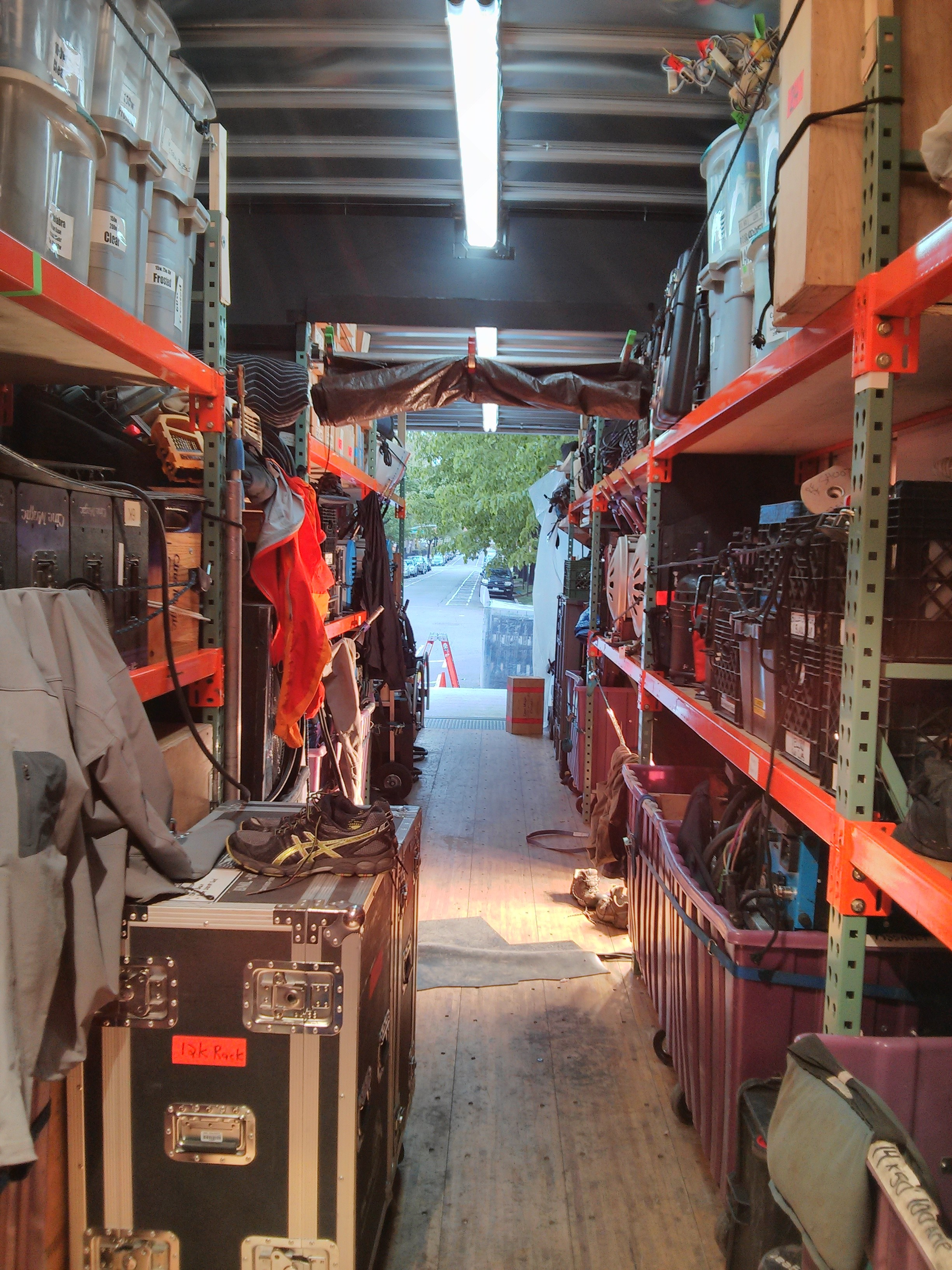 Equipment truck interior